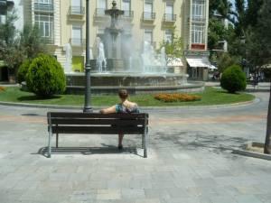 La fuente de las Batallas y yo// The Fountain that