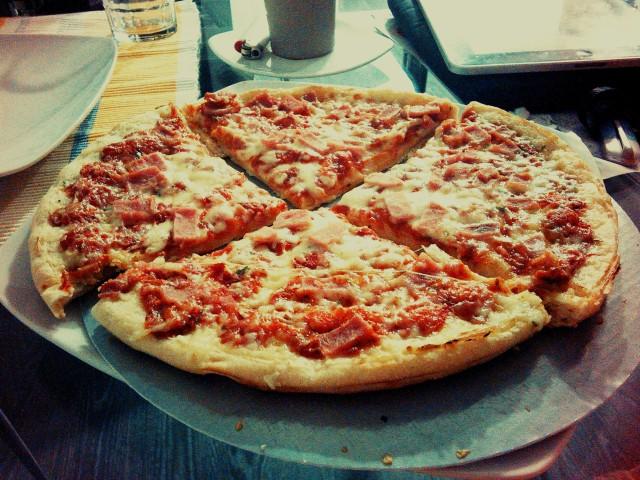 Ham & Cheese Pizza ;)