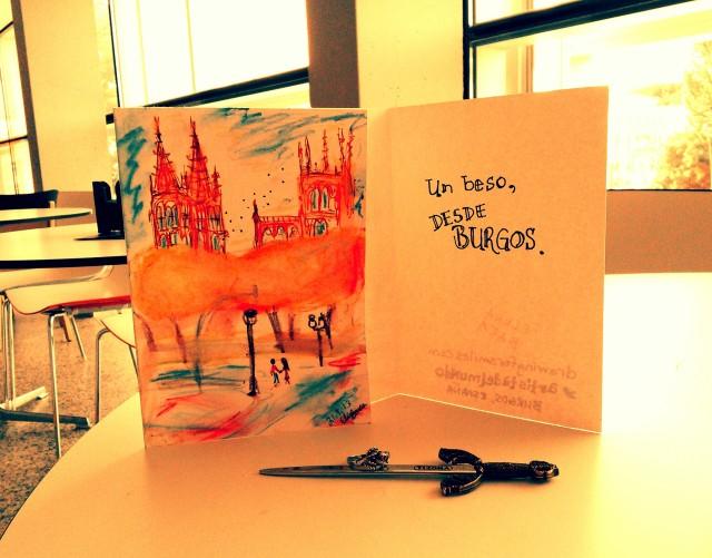 Una carta con una abrecarta... y un anillo de granada en Burgos