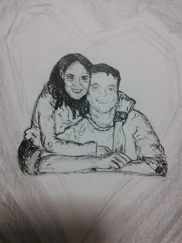 una pareja linda