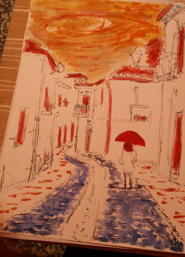 Raining in Granada