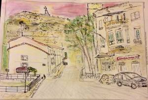 Un vistazo de una calle en Arcos de Jalón.